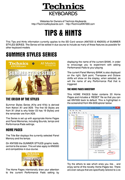 Summer Styles Technics Keyboards Tips and Hints.png