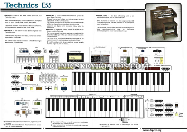 Technics Keyboards Downloads :: Technics Organs - E Series